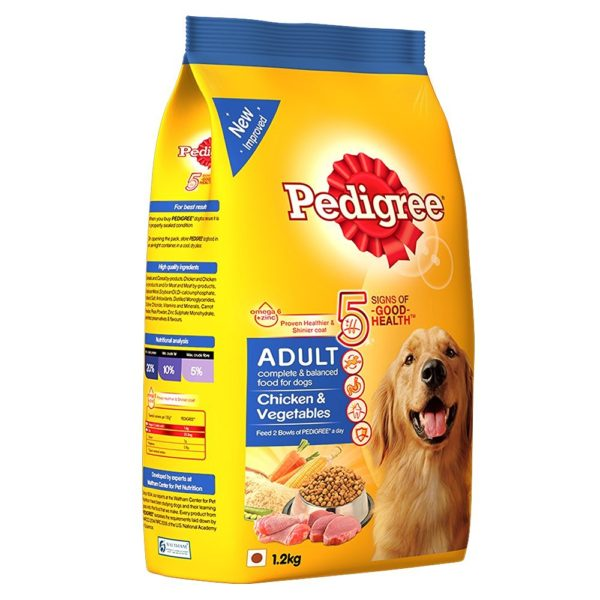 Pedigree Adult Dog Food Chicken and Veg 1.2k