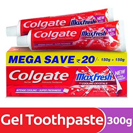Colgate Max Fresh Toothpaste 150gm+150gm