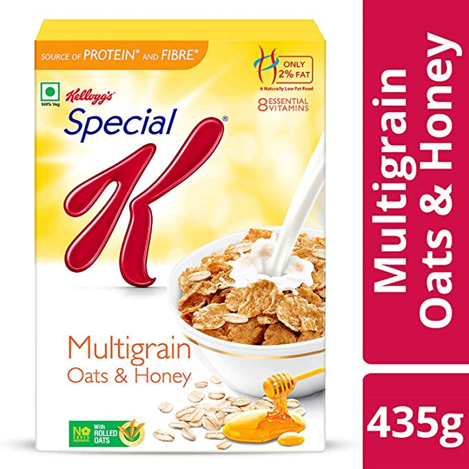 Kelloggs Cornflakes Special K Multigrain & Honey 435 g