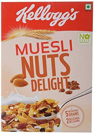 Kelloggs Muesli Extra Nut Delight 550gm