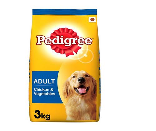 Pedigree Adult Dog Food Chicken and Veg 3kg